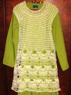 crochet tunic overlay