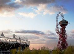 Travel photos looking out over East London's Queen Elizabeth Park (Olympic Park). The ArcelorMittal Orbit sculpture by Anish Kapoor