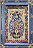 Flower in Vase Silk Persian Tableau Rug (Pictorial Carpet)