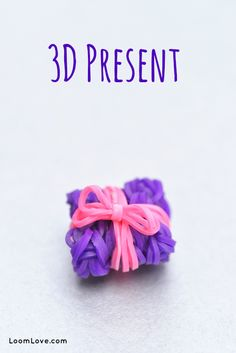 How to make a Rainbow Loom 3D Present i made this little charm it worked really well