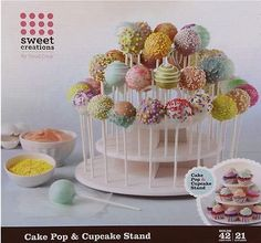 3-Tier Plastic Cake Lollipop Cupcake Display Stand Cakes Holder Tower for Party