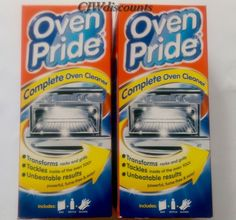 2 x 500ml boxes of Oven Pride complete oven, rack, grill and BBQ cleaner