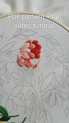 Hand Embroidery Patterns Flowers, Basic Embroidery Stitches, Hand Embroidery Videos, Embroidery Stitches Tutorial, Learn Embroidery, Hand Embroidery Designs, Embroidery Kits, Hand Embroidery Letters, Couture