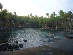The geothermal swimming pool along the eastern side of the Big Island, Hawaii