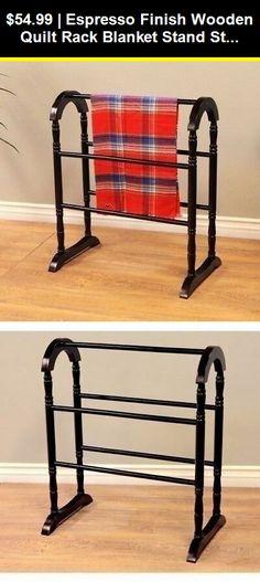 NEW Vintage Oak Finish Quilt Rack Stand Blanket Bedspread Storage Display Wooden