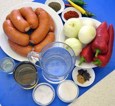 Nejoblíbenější kompot? Utopenci! Máme recept na ty nejlepší Stuffed Peppers, Canning, Vegetables, Food, Meal, Stuffed Pepper, Essen, Vegetable Recipes, Hoods