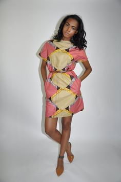 African print dress. New The Paige Dress.100 by ChenBCollection  #AfricanPrint #Ankara #AfricanInspired