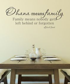 Add island flair to any room with this totally tropical wall decal. It's a perfect way to remind loved ones that in Hawaii, 'Ohana means family.'13'' W x 34.5'' HVinylMade in the USA