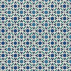 Schumacher Serallo Mosaic Wallpaper Aegean