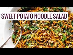 Chipotle Sweet Potato Noodle Salad with Roasted Corn Recipe - Pinch of Yum