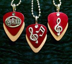 Metallic Musical Guitar Pick Pendents Red Copper $26 Country Jewellery, Guitar Pick Jewelry, Guitar Picks, Soul Music, Necklaces, Bracelets, Ring Necklace, Jewelry Organization, Music Quotes