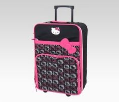 Day 2 pinspiration: Anything pink~ Hello Kitty Rolling Luggage: Pink + Gray Face  #SephoraHelloKitty