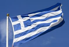 Records show that recycling began in ancient Greece around 400 B., and it began because new materials were scarce, so they used the same thing numerous times. Places To Travel, Places To See, Greek Independence, Kai, Greece Flag, Greek House, Greek Isles, Flags Of The World, Cool Photos
