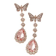 Morganite and rose-gold drop earrings by H. Stern