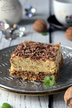 Rumor of the sister Anastasia - Rumowy orzechowiec siostry Anastazji – Smaki na talerzu Polish Desserts, Polish Recipes, Sweet Recipes, Cake Recipes, Dessert Recipes, Polish Cake Recipe, Kolaci I Torte, Homemade Cakes, Let Them Eat Cake