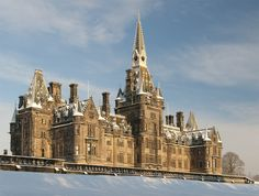 The stunning Fettes College is an independent boarding and day school in Edinburgh, Scotland