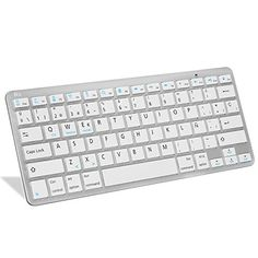 cool Rii BT09 teclado Bluetooth para Apple und PC , Windows 7 + 8,Linux,Mac OS X,Notebook,Laptop,Netbook,Mac Book,Tablets,Apple iPad,Samsung Galaxy Tab2,Galaxy Note,Smart Phones,Android,Iphone (Blanco)