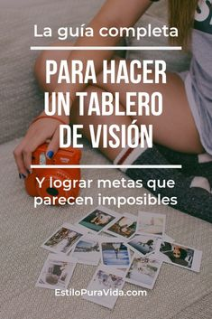 Completa Para Hacer un Tablero de Visión Guía Completa Para Hacer un Tablero de Visión Work Life Balance, Der Plan, Good Habits, I Can Do It, Life Motivation, Life Planner, Plans, Self Improvement, Business Tips
