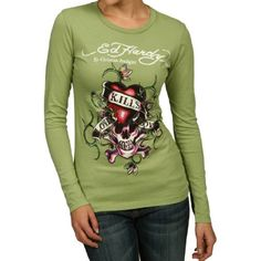 Ed Hardy Womens Love Kills Slowly Long Sleeve « Clothing Impulse My Unique Style, Style Me, Stuff White People Like, Dress Outfits, Cool Outfits, Dresses, Ed Hardy Designs, Don Ed Hardy, Christian Audigier