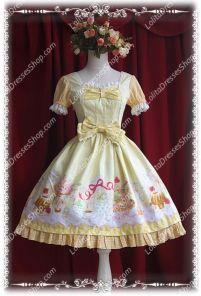 Sweet Cotten Cream House sweety Knot Sk Infanta Lolita Dress