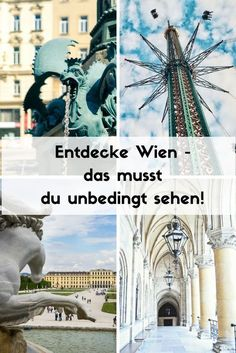 Are you looking for a Vienna insider tip? Vienna has many charming corners that you should discover Ways To Travel, Travel Advice, Travel Guides, Reisen In Europa, Austria Travel, Weekend Breaks, Europe Destinations, Travel Images, Travelogue