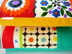 Retro folk art fabric cushions.