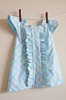 "tutorial for pillowcase dress with cap sleeves and ruffles, from Tiffany at ""Simply Modern Mom"""