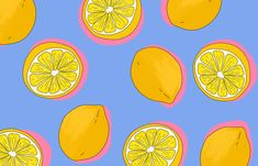 'Lemons' Desktop wallpaper by Poppy Deyes