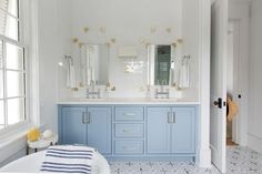 House Tour: Urban Grace Beauty in Alys Beach - Design Chic Bathroom Shower Faucets, Bathroom Red, Beach Bathrooms, Bathroom Cabinets, Small Bathroom, Master Bathroom, Bathroom Ideas, Bathroom Inspiration, Red Bathrooms