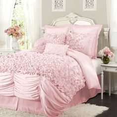 Sweeten your room with pink bedding with so many options to create beautiful yet fresh bedroom nuance. Choosing pink bed set will give comfortable and sweet effect to the bedroom.