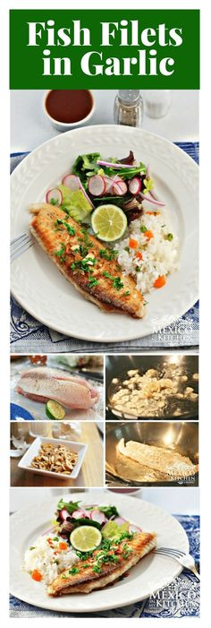 """This Fish Fillets """"Al Mojo de Ajo"""" recipe is one of the quickest ways to prepare fish filets.Just a few ingredients will render a delicious dinner in a matter ofminutes. mexicanrecipes mexicanfood mexicancuisine fish"""