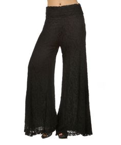 Look what I found on #zulily! Black Lace Palazzo Pants - Women & Plus by L & B #zulilyfinds