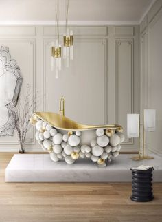 You might consider looking at this room and picking some of these pieces to integrate your next home decor project Discover more luxury bathroom ideas at Maison Valentina - http://www.maisonvalentina.net/