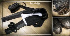   All studs is the new #black!    Un mix di borchie, pelle e morbido pelo! Combatti il freddo con stile ;)  #Outfit e accessori Gio Cellini #JeansandCocollezioni