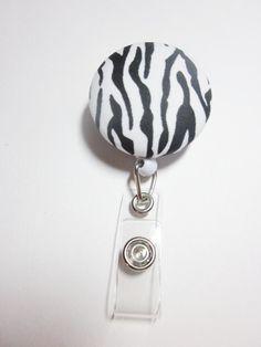 zebra print id badge