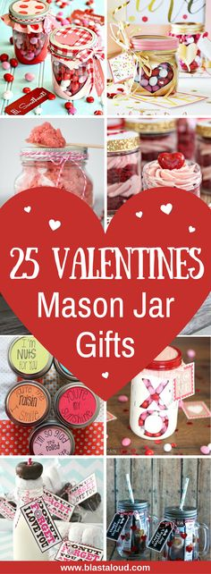 25 Easy DIY Valentines mason jar gift ideas to make this year. Instead of buying something at the store, make these mason jar gifts for Valentines day yourself as a more personalized gift. Valentines Day Food, Valentine Desserts, Valentine Gifts, Valentines Recipes, Valentine Ideas, Valentines Baking, Valentine Stuff, Valentine Wreath, Diy Valentine's Mason Jar