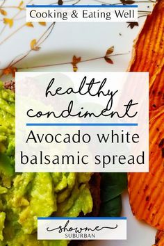 I wanted an alternative to mayonnaise, so I created this avocado white balsamic spread. It's rich, creamy, healthy, and easy to make. Low Calorie Lunches, Low Calorie Recipes, Healthy Appetizers, Healthy Snacks, Healthy Recipes, Healthy Eating, Calorie Dense Foods, Avocado Health Benefits, Healthy Wraps