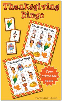 Free printable Thanksgiving Bingo game for up to 10 players. Great for building Thanksgiving-related vocabulary, or just for having some holiday fun! Thanksgiving Activities For Kids, Thanksgiving Crafts For Kids, Thanksgiving Traditions, Thanksgiving Parties, Thanksgiving Fashion, Family Traditions, Thanksgiving Decorations, Thanksgiving Recipes, Bingo For Kids