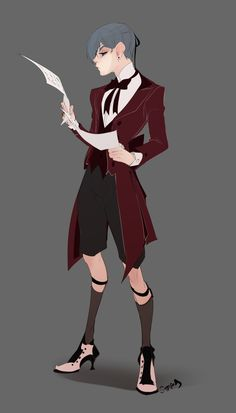 Ciel in wine colored clothes- I'm not dead! but going on hiatus for the rest of November, see you back in December! Black Butler Funny, Grell Black Butler, Black Butler Sebastian, Black Butler Kuroshitsuji, Sebastian X Ciel, Black Buttler, Ciel Phantomhive, Me Me Me Anime, Art Blog