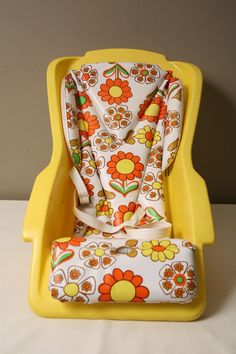 Mod Style baby seat by Century 1970s. inkFrog. My son used one similar to this one.