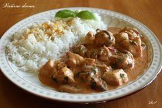 Kuřecí nudličky No Salt Recipes, Snack Recipes, Cooking Recipes, Snacks, Czech Recipes, Ethnic Recipes, Ham, Potato Salad, Curry
