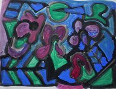 Rizwana A.Mundewadi cubism painting My Blue Window