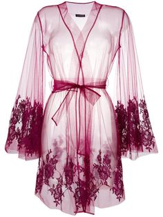 I.D.Sarrieri lace-embroidered night gown