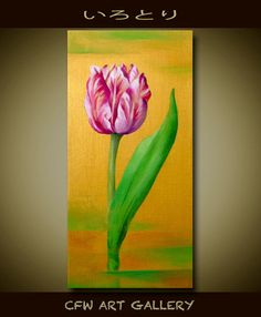 Flower art flower painting oil & acrylic painting by CFWART