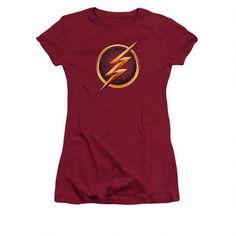 The Flash Logo Classic Licensed Reverse Zoom TV DC Comics Black Mens T-shirt