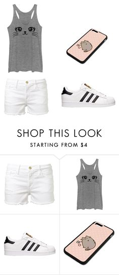 """Untitled #288"" by tori-k-meow ❤ liked on Polyvore featuring Frame Denim, adidas and Pusheen"