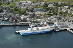 MV Hamnavoe berthed in Stromness Harbour. Visit www.northlinkferries.co.uk for timetables, booking and travel information