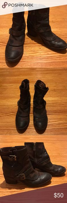 Donald Pliner Brown Suede Buckle Boots | Size 8 Donald Pliner Brown Suede Buckle Boots | Size 8 | Mint Condition | Rarely Warn Donald J. Pliner Shoes Ankle Boots & Booties