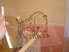 Smart Idea: Make your own DIY overhead projector for tracing wall murals. Directions on the website!