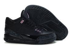 check out 38ef4 becd3 Women Air Jordan 3 All Black Air Jordan Iii, Nike Lebron, Lebron 11,
